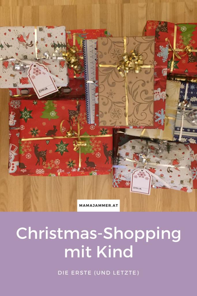 Christmas-Shopping mit Kind